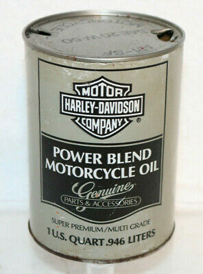Harley-Davidson Power Blend Motorcycle Oil, Grey Quart Composite Can, Empty 2B