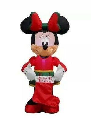 "NIB Disney Minnie Mouse "" Season Of Magic "" Christmas Lighted LED Inflatable 3.5"