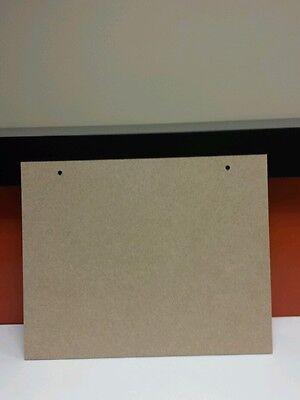 "4 x Mdf Wooden Plaques 2 holes 10"" wide x 8"" long ( 25.4cm x 20.32)"