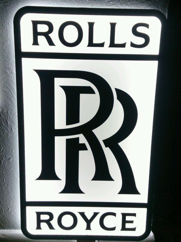 ROLLS ROYCE 3D sign lighted sport car garage racing rolls royce