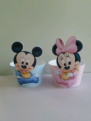Mickey And Minnie Decorations (24 baby mickey and baby minnie mouse cupcake)
