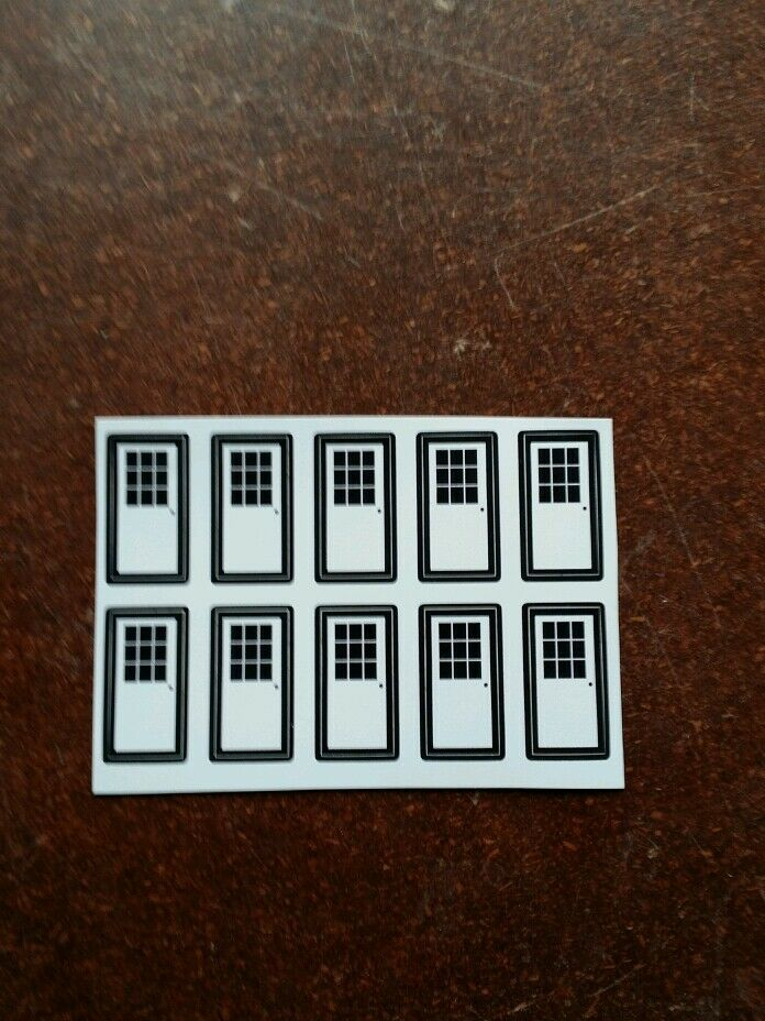 dcp Farm custom Machine Shed 1/64 door with window (10) stickers