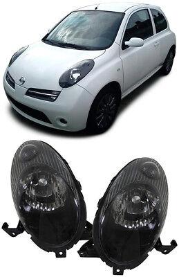 Schwarze Scheinwerfer für Nissan Micra K12 03-05 online kaufen