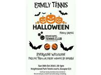 Halloween Family Tennis Sun 30th 1.30pm