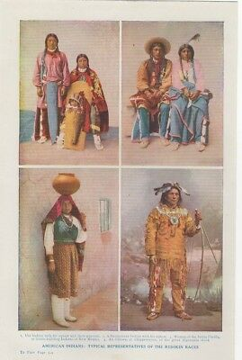 c 1925  Print Harmsworth - American Indians Typical Representative Redskin Races