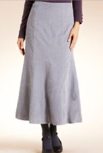new marks and spencer per una grey corduroy patch skirt 12