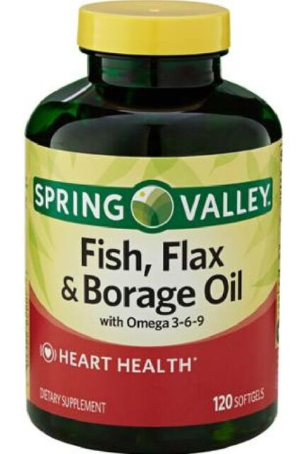 spring valley fish flaxseed borage oil omega 3 6 9 | ebay, Skeleton