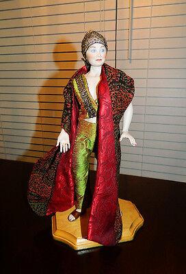 Elizabeth Brandon NIADA Artist OOAK Art Deco Porcelain Doll Gypsy Magazine ftrd