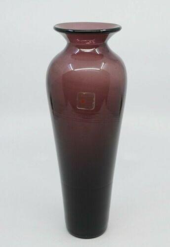 "Vintage Blenko Art Glass Vase Mold 8310M Amethyst Purple 15 1/2"" Vase"