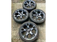 """17"""" Ford Fiesta Mk 6 7 Zetec Titanium Snowflake Alloy wheels Alloys With Tyres"""
