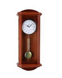 Beautiful Quartz Wood Pendulum Wall Clock with Glass Front