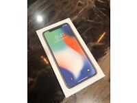 Apple iPhone X 64GB Silver factory unlocked brand new in box with warranty proof of receipt for sale