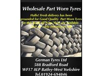 wholesale good quality Part Worn Tyres from £8,00/each