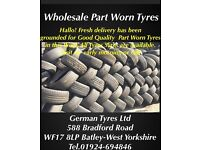 Part Worn Tyres wholesale, good quality 4mm+ thread,fresh delivery