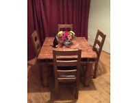 RUSTIC RECLAIMED BESPOKE PALLET WOOD DINING TABLE - SHABBY CHIC FINISH POSSIBLE
