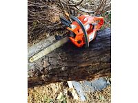 Husqvarna Chainsaw Like new With with good bar and chain not Stihl