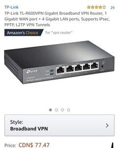 Gigabit broadband VPN Router