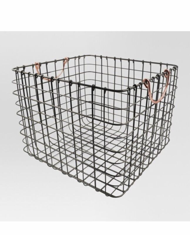 Multipurpose Storage Bin Large Wire Milk Crate w/ Handles Copper Durable Sturdy