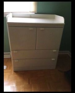White Melamine Dresser / Changing Table