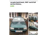 Vw polo for SALE! Excellent condition, full MOT history great first car