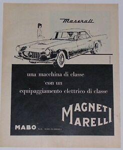 Advert-Pubblicita-1962-MASERATI-3500-GTI-MAGNETI-MARELLI