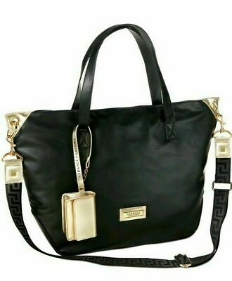Versace  Large Size Bag Black/Gold  Travel Weekender with Coin Purse NEW