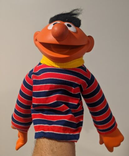 Vintage 1970s Muppets Sesame Street Large Ernie Rubber and Fabric Hand Puppet