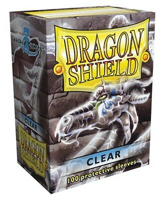 Wargaming MTG BNIB Dragon Shield Standard Size Sleeves 100 ct. Clear