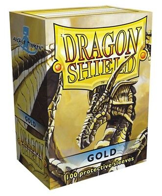 Wargaming MTG BNIB Dragon Shield Standard Size Sleeves 100 ct. Gold