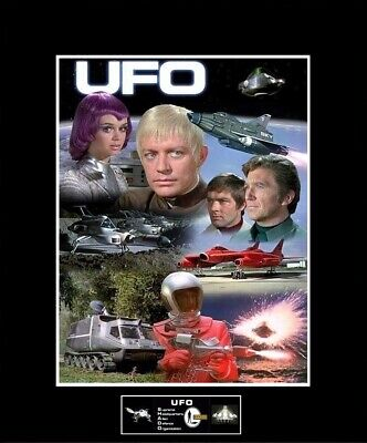 "GERRY ANDERSON U.F.O. TV Series Collage 8"" x 10"" Photo -11"" x 14"" Black Matted for sale  Rogers"