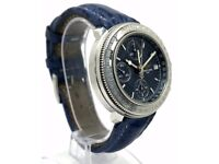 BREITLING ASTROMAT LONGITUDE A20405 AUTOMATIC CHRONOGRAPH GENTS BLUE DIAL WATCH