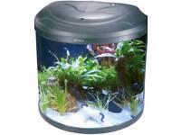 BOYU 26litre Half Moon Aquarium with Black Original Stand