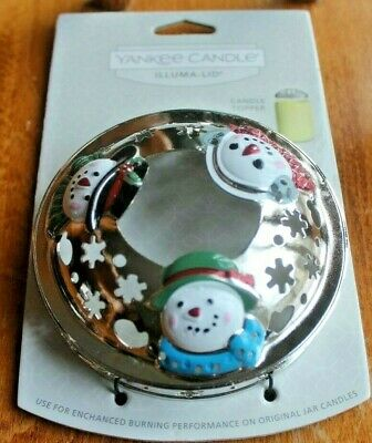 2020 Yankee Candle SNOWMEN SNOWMAN Illuma Lid ~~Colorful~~