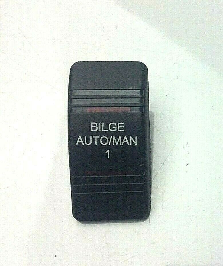 """NEW  """"Bilge Auto/Man 1""""  Vertical Switch Cover for Switch Panels Boat/Marine"""