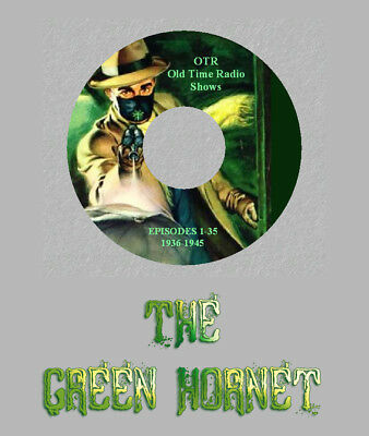 THE GREEN HORNET 35 Old Time Radio Shows RARE Vintage OTR 1 CD SUPERHERO Sci-Fi