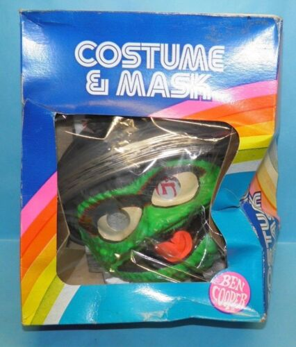 """1982 HALLOWEEN COSTUME Ben Cooper Oscar the Grouch Size Kids (2-3) 29"""" to 34"""""""