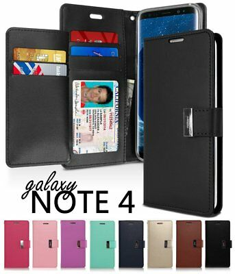 For Samsung Galaxy Note 4 - Multi Cards Leather ID Wallet Flip Pouch Case Cover (Samsung Galaxy Note 4 Wallet Case)