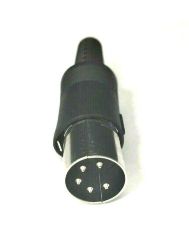 1x Philmore ETA3 - 5 Pin DIN Male 240 Degree Microphone In-Line Connector Plug