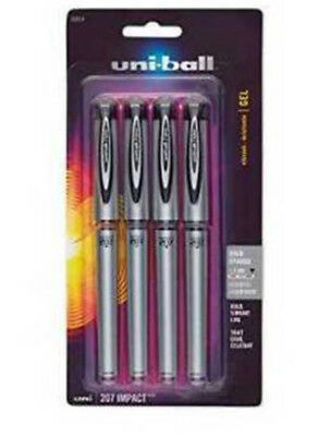 Uni-ball 207 Impact Gel Pens Bold Point 1.0mm Assorted Colors 4 Count
