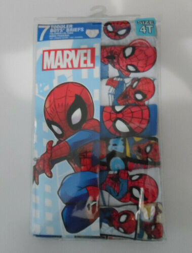 Spiderman Spider Man Marvel 7 Cotton Briefs Toddler Boys Size 4T Blue Red White