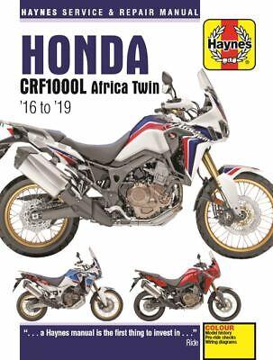 PRE-ORDER TITLE: Haynes Manual 6434 - Honda CRF1000L Africa Twin (16 - 19)
