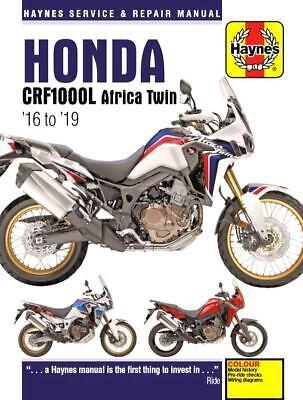 Honda CRF1000L Africa Twin Haynes Manual Repair Manual Workshop Manual 2016-2019