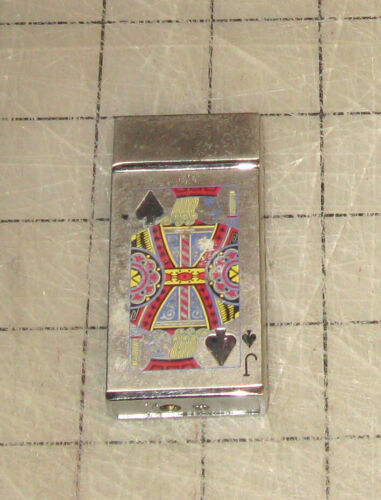 JACK OF SPADES Chrome Finish Playing Card Suits Unbranded Butane Lighter
