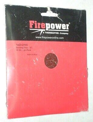 Victor Firepower 1423-2165 Aluminum Oxide Sanding Discs 5 X 78 36 Grit 3 Pk