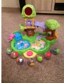 Fisher Price roll around jungle friends treehouse ball toy