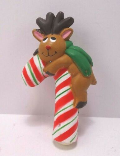 Reindeer With Candy Cane Christmas Pin Fun World