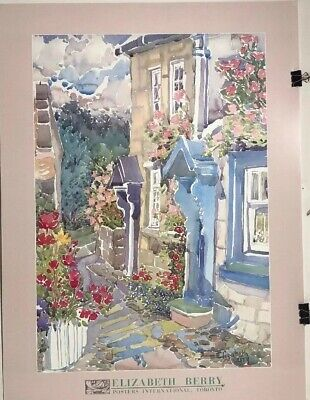 Elizabeth Fine Art (FINE ART LITHOGRAPH: Elizabeth Berry- Doorways And Roses - 25 X 34 )