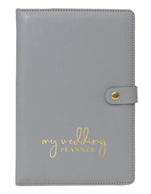 WEDDING PLANNER BOOK gift for bride engagement diary gold and silver organiser