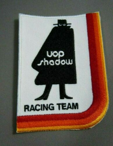 """SHADOW Racing Iron-On Embroidered Patch 3.75 x  2.75"""" UOP- CAN-AM - F1"""