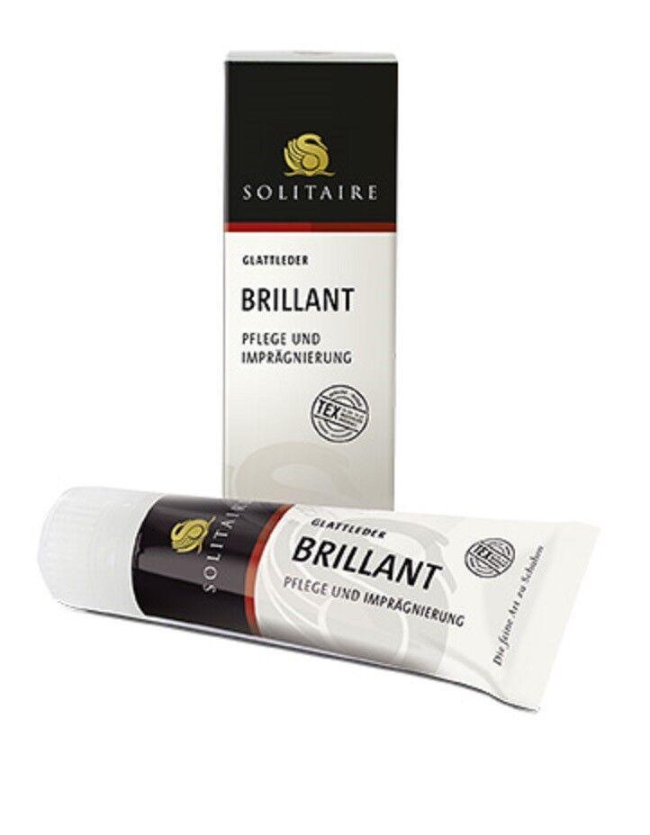(10,60€/100ml) Solitaire Brillant Creme Schuhcreme intensive Pflege Glattleder
